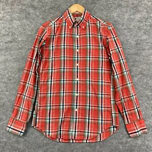 J Crew Mens Button Up Shirt Size XS Multicoloured Plaid Long Sleeve 193.35