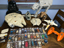 Huge Vintage Kenner Star Wars Collection Lot Figures Vehicles AT AT Falcon