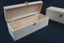1x Plain Wooden Champahne Box Bottle Holder Wedding Anniversary Box CHMP