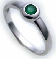 Damen Ring echt Weißgold 585 Smaragd 14kt Juwelierqualität Weiß Gold Einsteiner