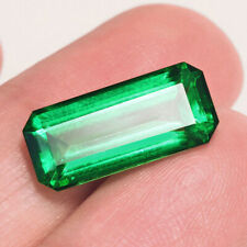 4.89Ct Colombian Emerald Octagon Collection Color Enhanced QMDa528