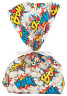 Pack of 12 - Comic Superheroes Saying Cellophane Bags Party Bags Superhero