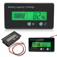 Comprobador baterias de coche Batería Voltaje Monitor voltimetro LCD Pantalla