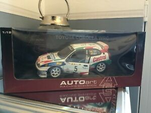 Auto Art 1/18 scale Toyota Corolla WRC diecast model car boxed c sainz l moya