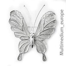 antiker Jugendstil Schmetterling Silber Brosche filigran silver brooch butterfly