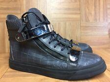 RARE🔥 Giuseppe Zanotti Gold Buckle Croc Fashion Sneakers Sz 43 Double Zip Snake