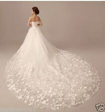 Custom Plus Size White/Ivory Lace Wedding Dress Strapless Ball Gown Bridal Gowns
