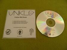 UNKLE - Follow Me Down - RARE Original UK Official Promo CDr Nylon Wallet Sleeve