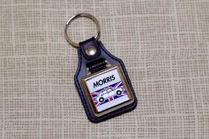 Morris 1100 1300 Keyring - ADO16 Leatherette & Chrome Keytag
