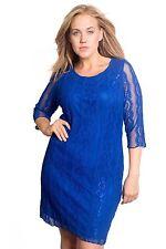 Festliche 3/4 Arm Damenkleider mit Rundhals-Ausschnitt aus Polyester