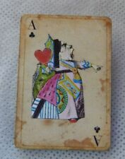 Alice in Wonderland Queen of Hearts Playing Card Brooch or Scarf Pin Wood NEW
