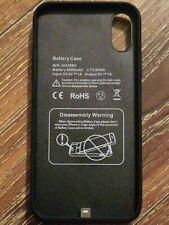 Smart Battery Case for iPhone X/XS/10 6500mAh Black HIX50B3 New