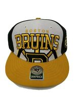 NWT Forty Seven Brand Boston Bruins Hockey NHL Black Yellow Snapback Hat New