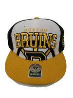 NWT Forty Seven Brand Boston Bruins Hockey NHL Black Yellow Snapback Hat