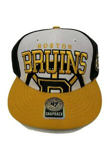 NWT Forty Seven Brand Boston Bruins Snap Back Hat