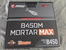 More details for msi b450m mortar max matx am4 motherboard - latest bios