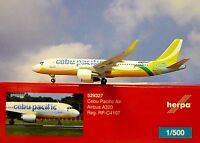 Herpa ALI 1:500 Airbus A320 Cebu Pacific Air rp-c4107 529327 modellairport500