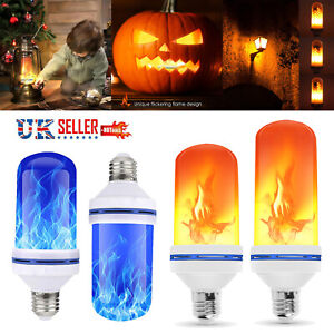 E27 Lampe Flammen Effekt LED Licht Birne 3 Modus Fake Feuer Flackernd Emulation