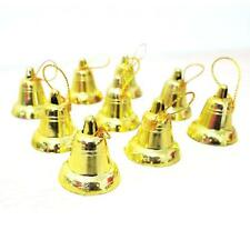 18 Pcs Christmas Tree Hanging Gold Bells Party Decoration Ornaments Xmas Gifts