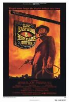 """""""HIGH PLAINS DRIFTER"""" Movie Poster [Licensed-NEW-USA] 27x40"""" Theater Size (1973)"""