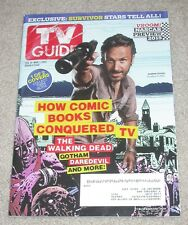 VG! TV GUIDE ~ ANDREW LINCOLN Cover & The VOICE on BACK ~ Double Issue ~ 2015