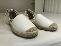 Anesia White Stud Espadrilles Sandals - Size 39/ UK 6 - New