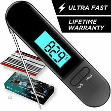 New listing Meat Thermometer Instant Read, Waterproof Bbq Thermometer with Calibration