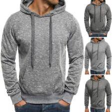 Sudadera con capucha de hombre de manga larga en gris