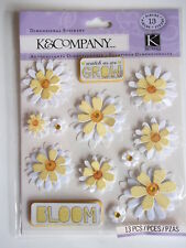 K&CO DIMENSIONAL STICKERS - DAISY daisies flowers