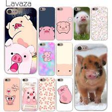 Para Apple iPhone 4S 4 8 7 6 6S Plus 10 5 5S Duro Piel X Funda animal cerdo