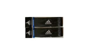 2 Adidas Headbands Reversible Running Workout Sport Team Black / Gray Climalite