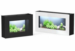 aquatlantis Wandaquarium Aquaplasma 95 95x20x48 cm 55 Liter schwarz oder weiß