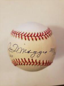 JOE DIMAGGIO Autographed Rawlings America League Baseball Yankee Clipper COA LE