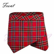 Ladies/Womens Tartan Asymmetric Hem Skirt/Shorts/Skorts Irregular Flanging Wrap