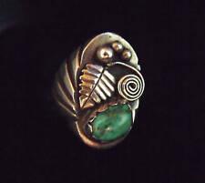 Heavy Sterling & Turquoise Ring  - Navajo Handmade