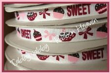 "Sweet Treats Valentines M2MG 3/8"" 5 yds Grosgrain Ribbon"