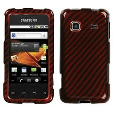 Red Racing Fiber HARD Case Protector Phone Cover for Samsung Galaxy Precedent