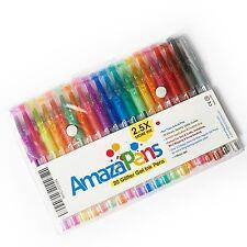 AmazaPens Gel Pens, 20 Pack Super Glitter 150% More Ink than Other Sets