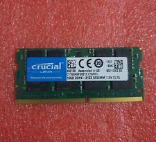 Crucial 16GB 1x16GB CT16G4SFD8213.C16FH1 PC4-2133P PC4 17000 DDR4 SDRAM RAM