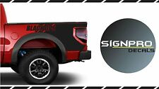 F-150 Ford Raptor Style Bedside Vinyl Decal  Styles colors Blackout Black Ops