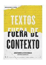 Textos fuera de contexto (Spanish Edition) Free Shipping