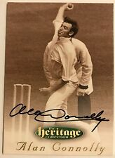 1995 FUTERA HERITAGE CRICKET COLLECTION CARD N0 53/60 SIGNED ALAN CONNOLLY