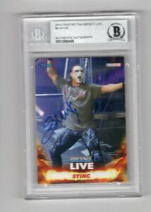 2013 Tristar TNA Impact Live Sting Auto Signed Card #4 Beckett Certified BAS