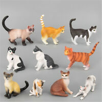 Farm Simulation Mini Cat Animal Models Plastic Figures Decors Kids Gift Toy OR