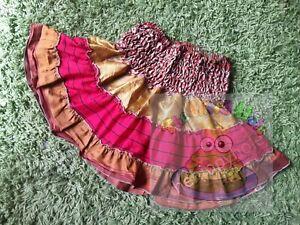 Mini cute gypsy frilly rara festival skirt