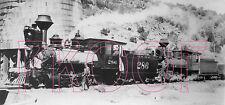 Denver & Rio Grande Western (D&RGW) Engines 286 & 204 at Embudo, NM - 8x10 Photo