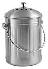 Chef's Star Stainless Steel Premium Compost Bin ( 1 Gallon )