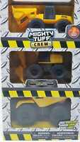 MIGHTY TUFF CREW CONSTRUCTION VEHICLE 3 PACK ALL-IN-ONE FREE WHEEL - NEW BOXED