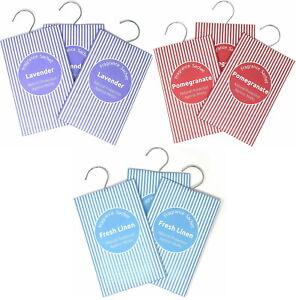 3 x Fragrance Bags, Moth Repellent Sachets - Fresh Linen, Lavender & Pomegranate