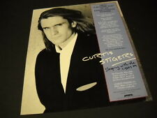 CURTIS STIGERS is sleeping with the lights on 1992 PROMO POSTER AD mint cond